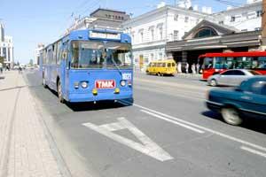 троллейбус полоса для транспорта
