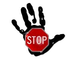 знак стоп рука